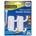 Removable Double White Hooks - Pack of 2 5050565395276