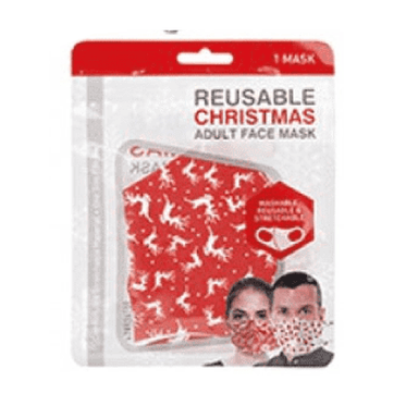 Reusable Unisex Christmas Spandex Face Mask - Assorted Designs - Pack of 1 - only5pounds.com