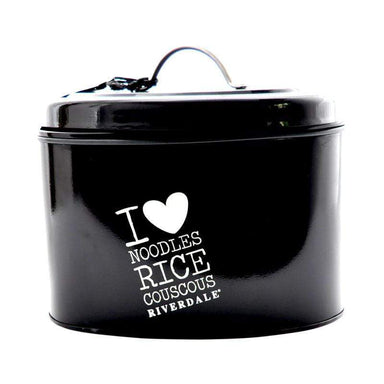 Riverdale Black Metal Food Storage Tin With Lid - only5pounds.com