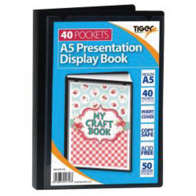 Tiger A5 40 Pocket display book - only5pounds.com