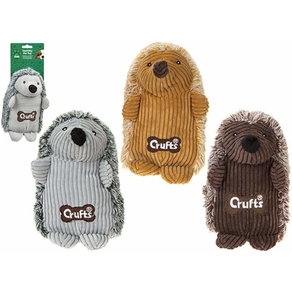 Crufts Large Squeaky Hedgehog - 3 Assorted Colours 5025572083836