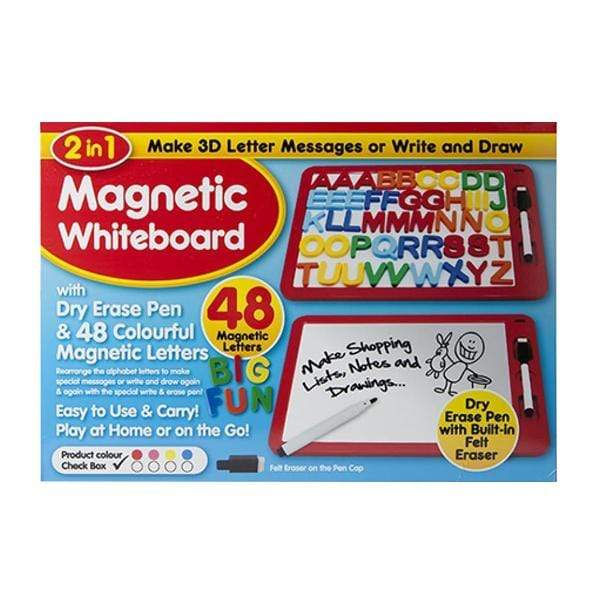 Deluxe 2 in 1 Magnetic Play board with 48 Letters and Pen - only5pounds.com