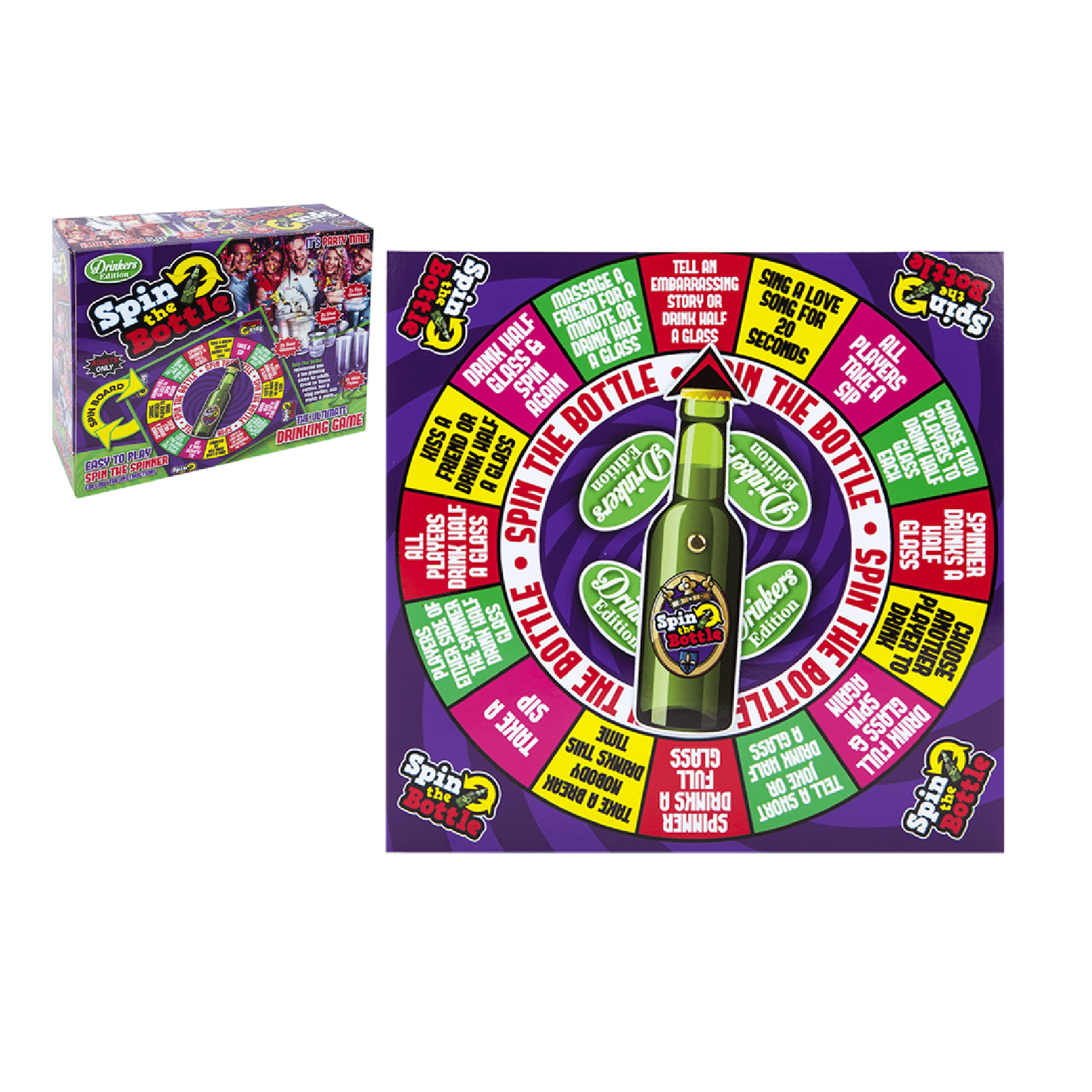 Spin The Bottle Game - Drinkers Edition (18+) - only5pounds.com