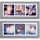 70x30cm Contemporary Candle Canvas with 6 LEDs - Assorted Designs 5053844048863