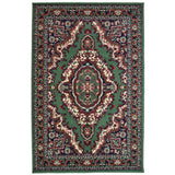 "Medallion Green Traditional Rug (60x110cm - 2'x3'7"") 5056150206200"