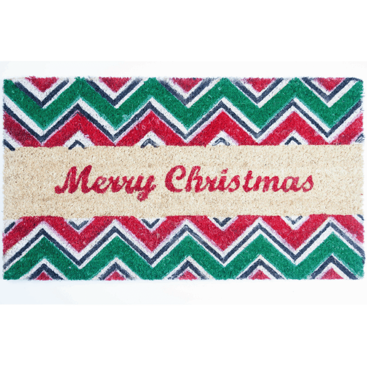 Goa Coir Christmas Door Mat - Merry Christmas - 40 x 70cm - only5pounds.com