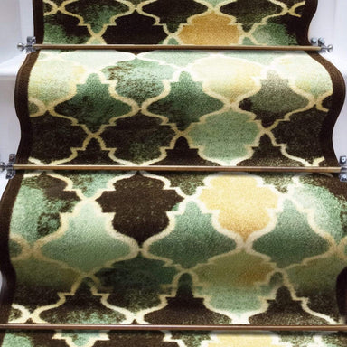 Stair Runner / Kitchen Mat - Decor Blue/ Green - (Custom Sizes - Cut to order) - only5pounds.com