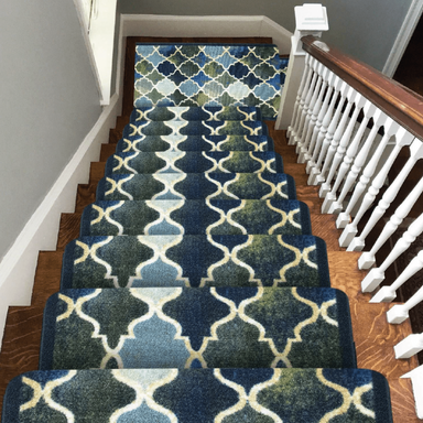 Stair Runner / Kitchen Mat - Decor Teal - (Custom Sizes - Cut to order) - only5pounds.com