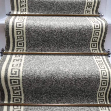 Stair Runner / Kitchen Mat - Greek Grey - (Custom Sizes - Cut To Order) - only5pounds.com