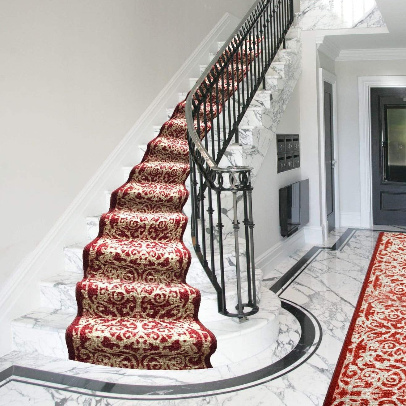 Stair Runner / Kitchen Mat - Hiero Red - (Custom Sizes - Cut to order) - only5pounds.com