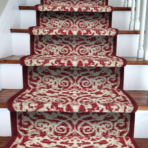 Stairs Runner / Kitchen Mat Hiero Red-  (Custom Sizes Available - Cut to order)