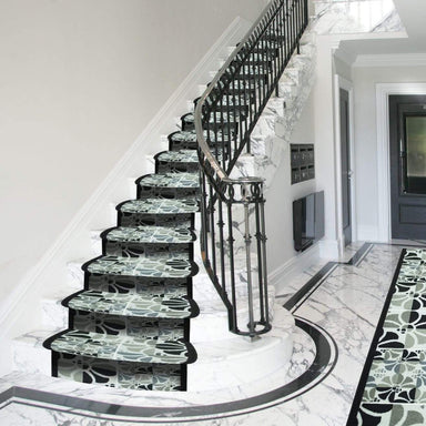 Stair Runner / Kitchen Mat -  Palmas Grey - (Custom Sizes - Cut to order) - only5pounds.com