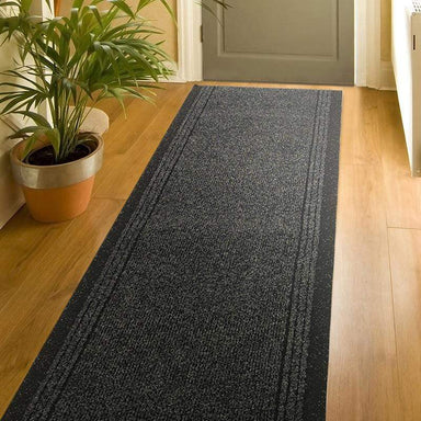 Sydney Stair Runner / Kitchen Mat -  Charcoal - (Custom Sizes - Cut to order) - only5pounds.com