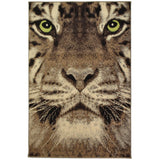 "Tiger Green Eye Animal Print Rug (60x110cm - 2'x3'7"") 5056150208679"