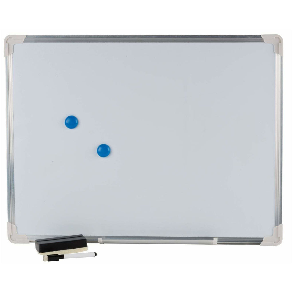White Board with Accessories Memo Dry Wipe Cleaning 60 cm 8711252979885