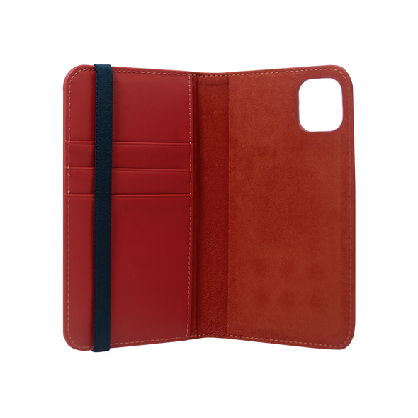 Leather Flip Wallet for iPhone 11