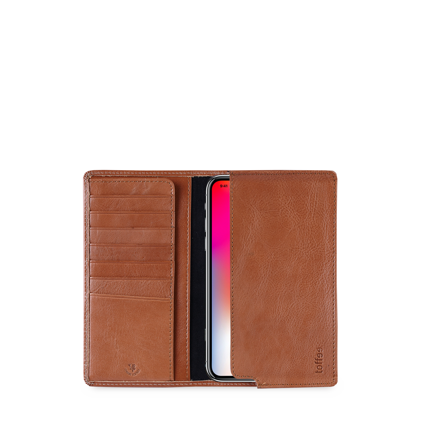 super popular 5d463 722b2 Leather Sleeve Wallet – for iPhones with Card Slots – Toffee Cases