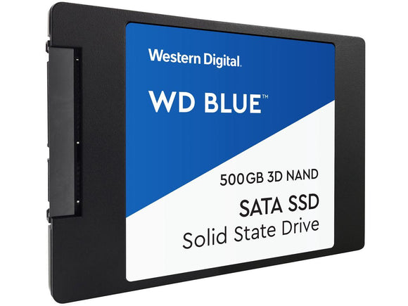 WD Blue 3D NAND 500GB Internal SSD - SATA III 6Gb/s 2.5