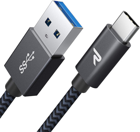 USB-A to USB-C (assorted colours and lengths)