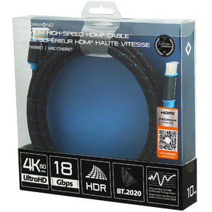 Premium HDMI 4k UltraHD Cable, 10ft