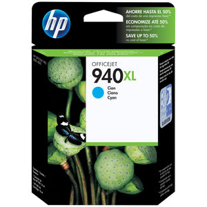 HP 940XL Cyan High Yield Original Ink Cartridge (C4907AN)