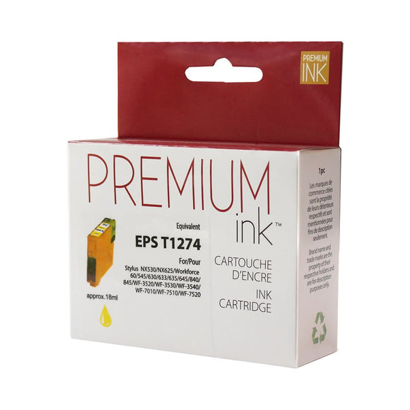 Epson T127420 Compatible Yellow Premium Ink