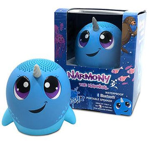 MY AUDIO PET SPLASH BLUETOOTH SPEAKER NARMONY THE NARWHAL
