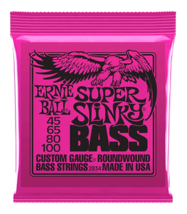Ernie Ball 2834 Super Slinky Nickel Round Wound Bass Set (45 - 100)