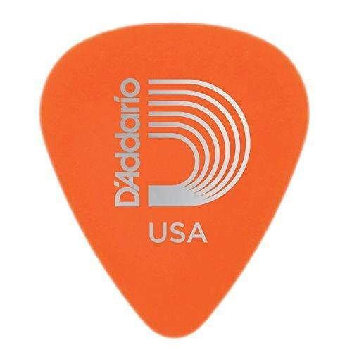 D'addario Duralin Guitar Picks - Light - 0.60mm - Orange - 10 Pack - Perth PC
