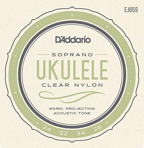 D'Addario EJ65S Pro-Arté Custom Extruded Nylon Ukulele Strings, Soprano - Perth PC