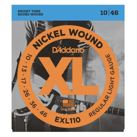 D'Addario EXL110 Nickel Wound Electric Guitar Strings, Regular Light, 10-46 - Perth PC