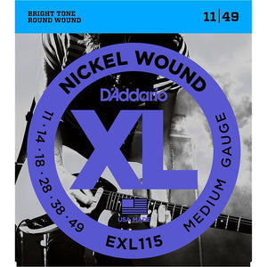 D'Addario EXL115 Nickel Blues/Jazz Electric Guitar Strings Single-Pack - Perth PC