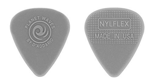 D'addario - Nylon Nylflex Guitar Picks - Medium - 0.75mm - Grey - 10 Pack - Perth PC