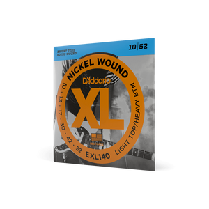 D'Addario EXL140 Nickel Wound Electric Guitar Strings, Light Top/Heavy Bottom 10-52