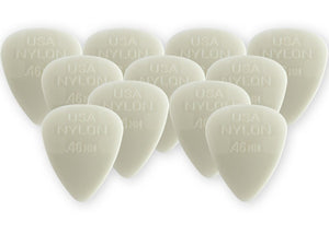 Dunlop Nylon Standard Picks, Cream .46mm, Qty 12 - Perth PC