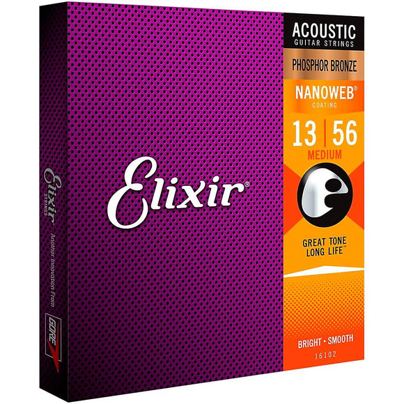 Elixir® Strings Acoustic Phosphor Bronze Guitar Strings with NANOWEB® Coating - Perth PC