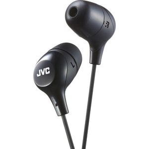 JVC HAFX38MB Marshmallow Inner-Ear Headphones with Microphone (Black) - Perth PC