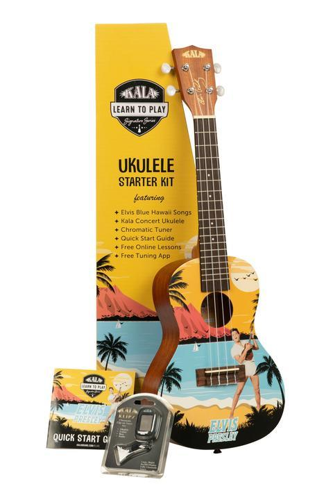 Kala Learn To Play Elvis Blue Hawaii Concert Ukulele Starter Kit - Perth PC