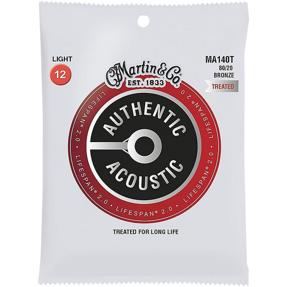 Martin Ma140t Lifespan 2.0 Treated 80/20 Bronze Acoustic Strings 12-54 - Perth PC