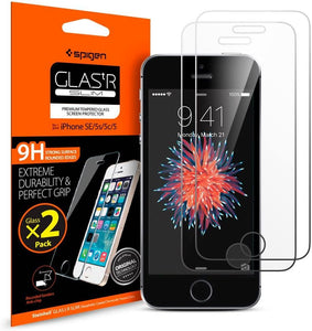 Spigen Tempered Glass Screen Protector (2pack) - iPhone SE/5s/5c/5 - Perth PC