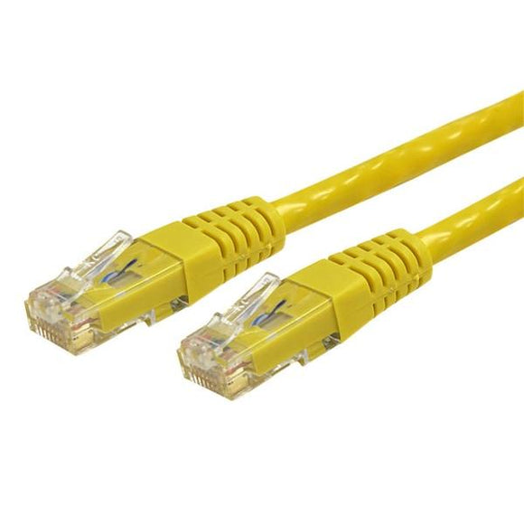 StarTech Yellow Molded RJ45 UTP Gigabit Cat6 Patch Cable - 3 Feet (C6PATCH3YL) - Perth PC