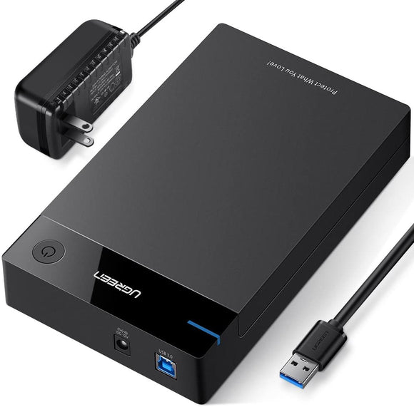 UGREEN External Hard Drive Enclosure Adapter 3.5 USB 3.0 to SATA Hard Disk Case Housing with Power Adapter - Perth PC