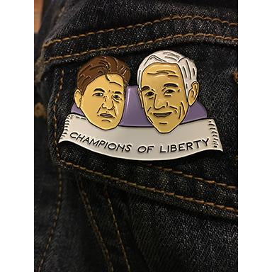 The Liberty Report enamel pin