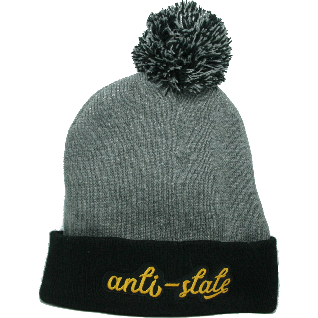 Anti-state Pom Pom Knit Cap - Human Action llc