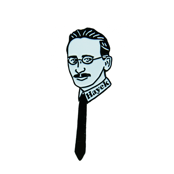 Friedrich Hayek Enamel Pin - Human Action llc