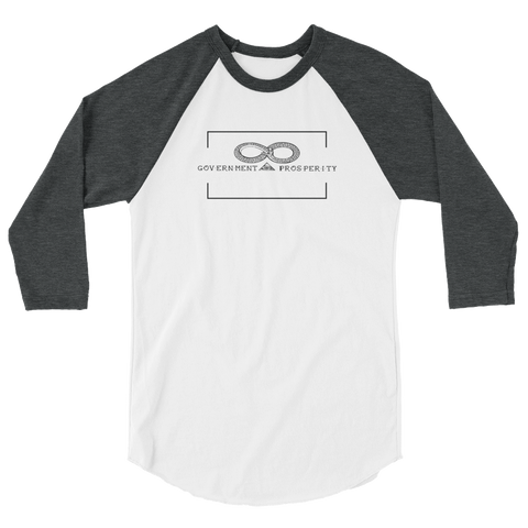 Human Action 3/4 sleeve raglan shirt