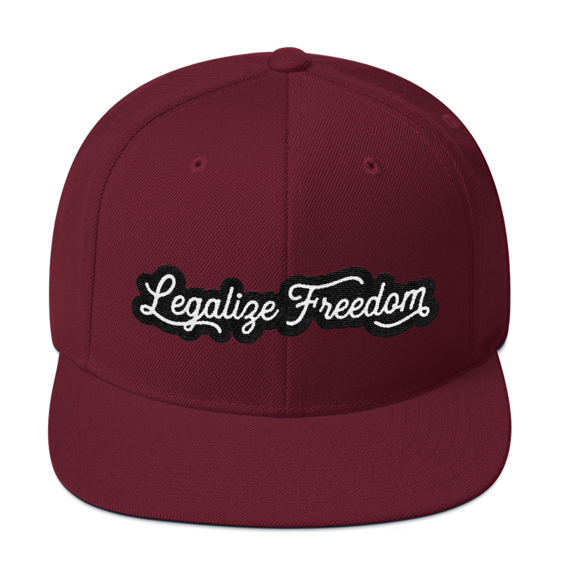 Legalize Freedom Snapback Hat - Human Action llc