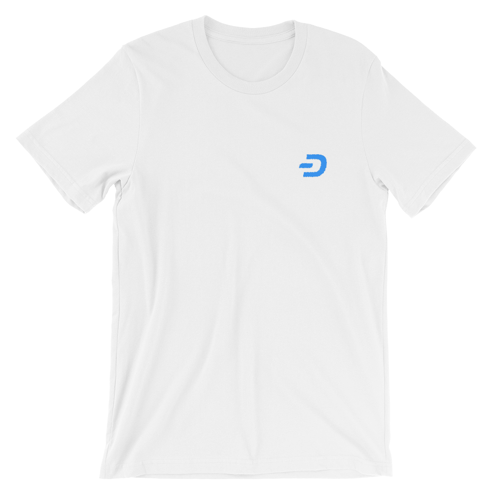 Embroidered Dash Short-Sleeve Unisex T-Shirt - Human Action llc