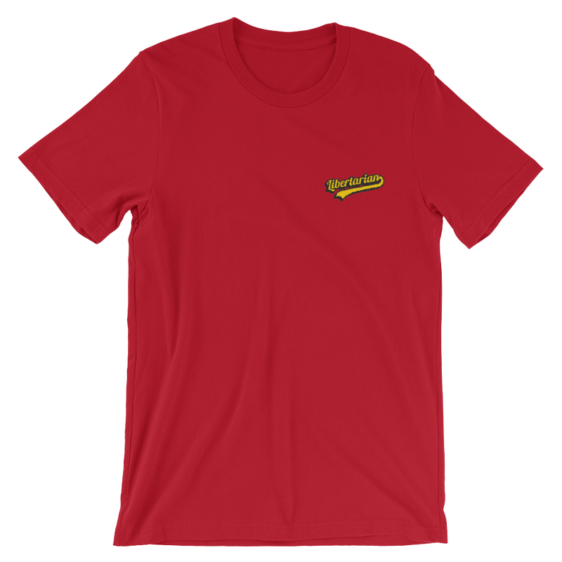 Embroidered libertarian Short-Sleeve Unisex T-Shirt