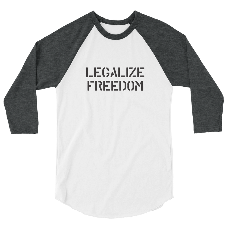 Legalize Freedom 3/4 sleeve raglan shirt
